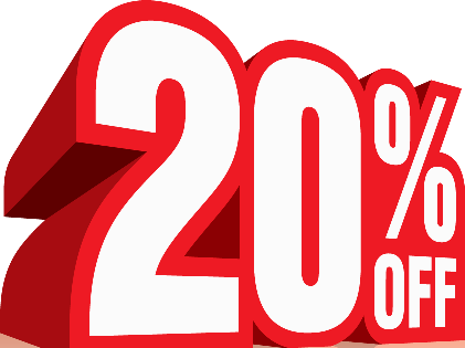 20% off accommodation